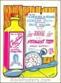 AOR2.229 - Charlatans Handbill - Straight Theater - Condition - Near Mint - SF Rock Posters - EST 1991. San Francisco, CA