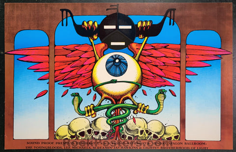 AUCTION - AOR2.22 - Rick Griffin 1969 Original Poster - Condition - Avalon Ballroom - Condition - Excellent