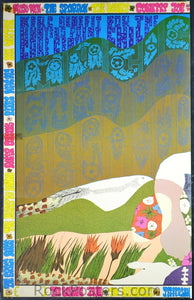AOR2.317 - Jefferson Airplane Poster - Magic Mountain Festival (left half) - Mt. Tamalpais Amphitheater - Condition - Excellent