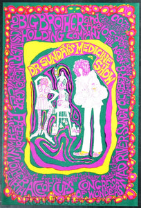 AOR2.339 - Big Brother & The Holding Company Poster - Family Park - Condition - Near Mint