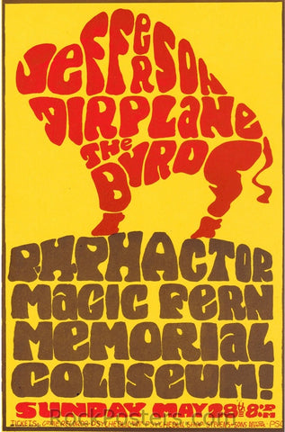 AOR3.109 - Jefferson Airplane Handbill - Balboa Stadium - Condition - Mint
