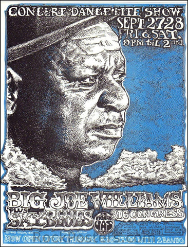 AOR3.122 - Big Joe Williams Handbill - Vulcan Gas Company - Condition - Mint