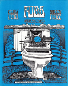 AOR3.125 - The Fugs Handbill - Vulcan Gas Company - Condition - Near Mint