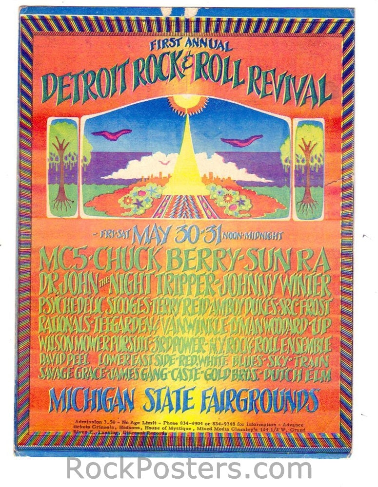 AOR3.138 - Detroit Rock & Roll Revival Handbill - Michigan State Fairgrounds - Condition - Excellent