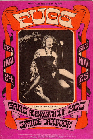 AOR3.142 - The Fugs Handbill - Grande Ballroom - Condition - Near Mint