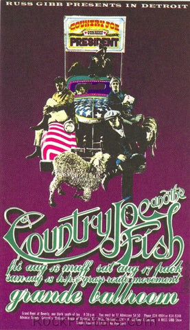 AOR3.156 - Country Joe & the Fish Handbill - Grande Ballroom - Condition - Near Mint