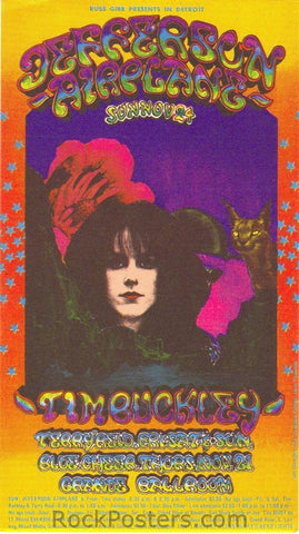 AOR3.158 - Jefferson Airplane Handbill - Grande Ballroom - Condition - Mint