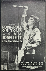 AOR4.019 - Joan Jett and the Blackhearts Poster - San Jose Civic Center - Condition - Near Mint