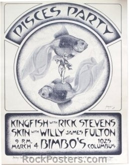 AOR4.025 - Kingfish with Rick Stevens Poster - Bimbo's  - Condition - Near Mint