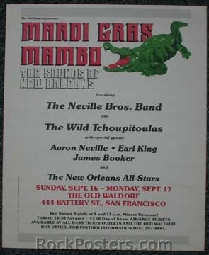 AOR4.030 - The Neville Brothers Poster - Coconut Grove - Condition - Near Mint