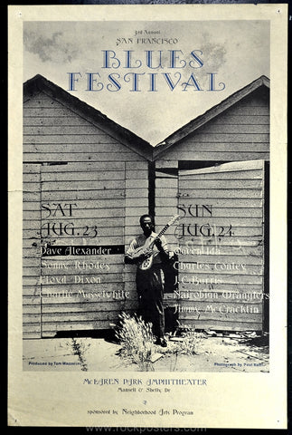 AOR4.037 - Third Annual Blues Festival Poster - McLaren Park - Condition - Excellent