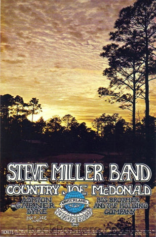 AOR4.053 - Steve Miller Blues Band Poster - Winterland - Condition - Excellent