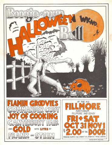 AOR4.056 - Flamin' Groovies Handbill - Fillmore Auditorium - Condition - Excellent
