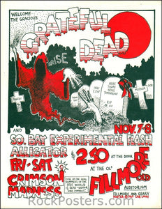AOR4.057 - The Grateful Dead Handbill - Fillmore Auditorium - Condition - Near Mint