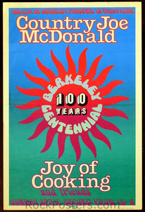 AOR4.075 - Country Joe McDonald Poster - Provo Park - Condition - Excellent