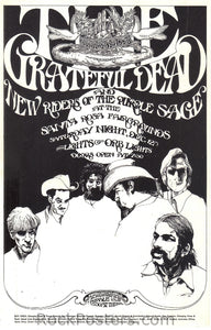 AOR4.095 - The Grateful Dead Handbill - Santa Rosa Fairgrounds - Condition - Near Mint
