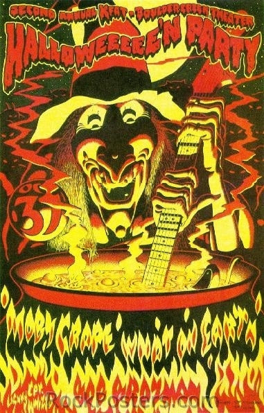 AOR4.103 - (Second Print) KFAT Halloween Party Poster - Phillips signed - Boulder Creek Theater - Condition - Near Mint