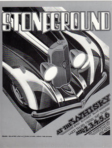 AOR4.129 - Stoneground Handbill - The Whiskey - Condition - Near Mint