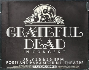 AOR4.141 - The Grateful Dead Poster - Paramount Northwest - Condition - Excellent