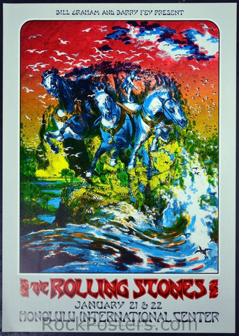 AOR4.147 - The Rolling Stones Poster - Honolulu International Center - Condition - Near Mint