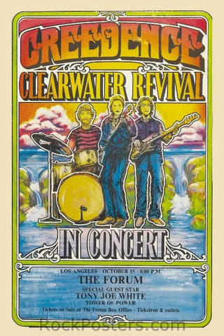 AOR4.204 - Creedence Clearwater Revival Poster - Cincinnati Gardens - Condition - Near Mint