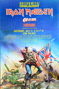 AOR4.216 - Iron Maiden Poster - Madison Square Garden - Condition - Near Mint