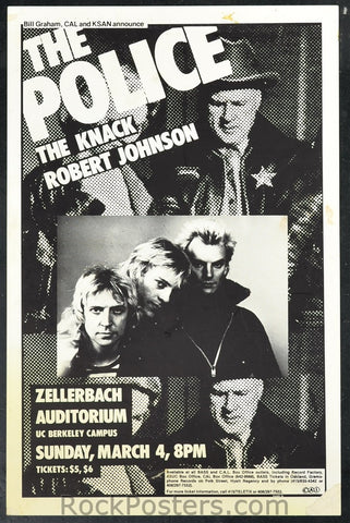 AOR5.002 - The Police Poster - Zellerbach Auditorium - Condition - Near Mint