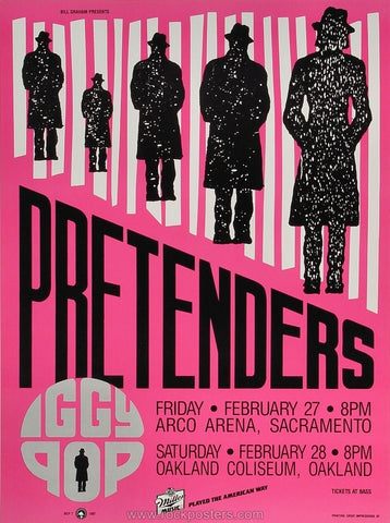 AOR5.005 - The Pretenders Poster - Henry J. Kaiser Auditorium - Condition - Near Mint