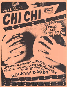 AOR5.011 - John Cipollina Handbill - Alternate (Jan. 7) - Chi Chi Club - Condition - Excellent