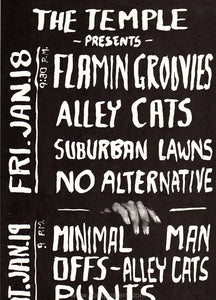 AOR5.099 - Flamin' Groovies Poster - Theater 1839 - Condition-0