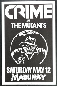 AOR5.124 - Mutants Poster - Mabuhay Gardens - Condition - Near Mint