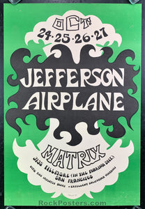 AUCTION - AOR-2.112 - Jefferson Airplane 1966 Poster - The Matrix - Excellent