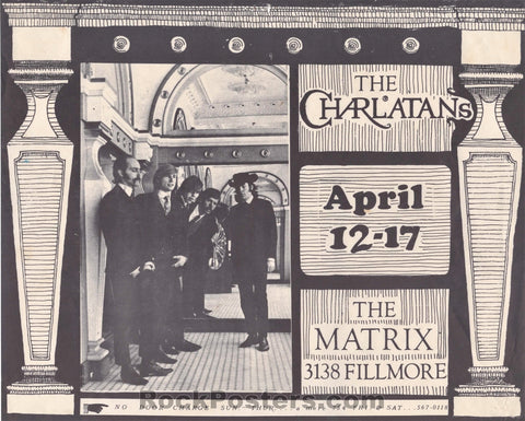 AOR-2.117 Alt. - Charlatans Handbill - The Matrix - Excellent
