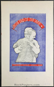 AOR2.219 - The End of the War Handbill - Straight Theater - Condition - Near Mint Minus