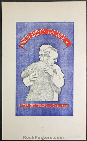 AOR-2.219 - The End of the War Handbill - Straight Theater - Condition - Near Mint Minus