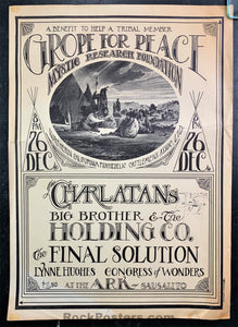 AUCTION - AOR-2.130 - Grope For Peace Charlatans - Mouse Signed - 1966 Poster - The Ark - Good