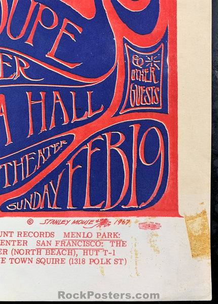 AOR 2.137 - Country Joe Port Chicago Benefit Poster - California Hall - Condition - Rough