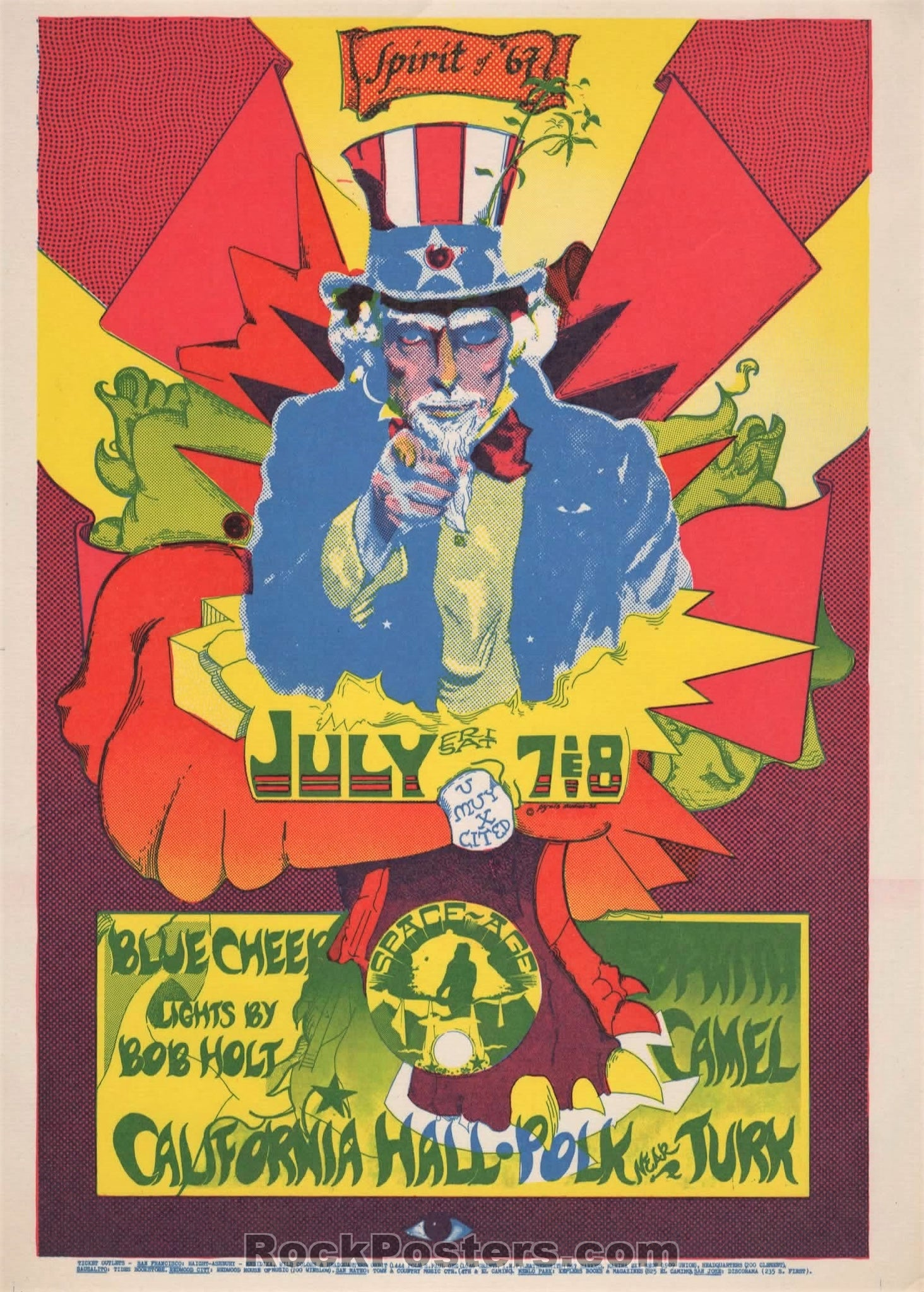 AUCTION - AOR2.149 - Blue Cheer Sopwith Camel 1967 Handbill - California Hall - Condition - Near Mint