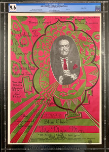 AOR 2.150 - Blue Cheer Poster - California Hall - Condition - CGC Graded 9.6