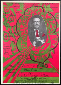 AUCTION - AOR-2.150 - Blue Cheer 1967 Poster - California Hall - Near Mint