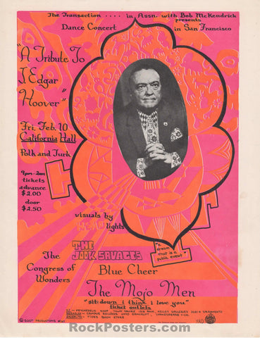 AOR-2.150 - Blue Cheer Handbill - California Hall - Excellent