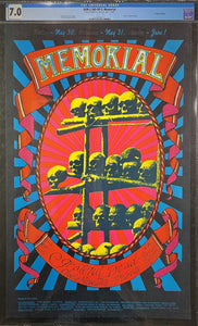 AUCTION - AOR-2.160 - Grateful Dead - 1968 Poster - Carousel Ballroom - CGC Graded 7.0
