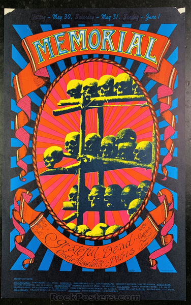 AOR2.160 - The Grateful Dead Memorial Poster - Carousel Ballroom - Condition - Good