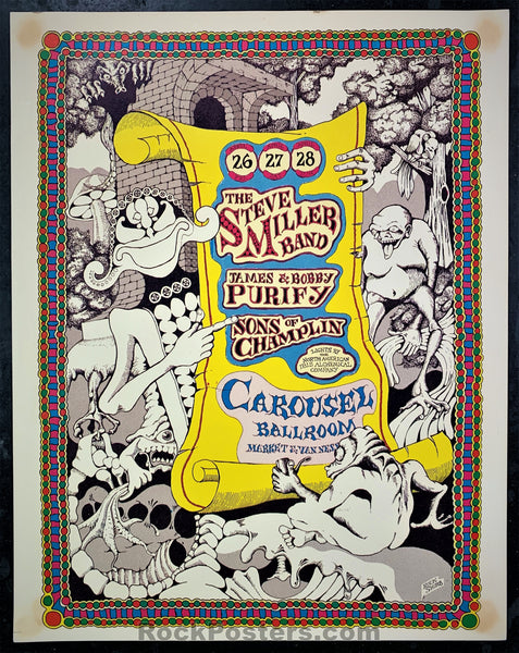 AOR-2.168 - Steve Miller Blues Band Poster - Carousel Ballroom - Condition - Excellent