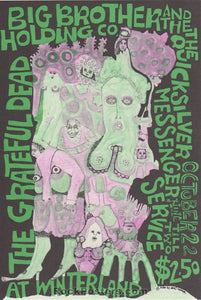 AUCTION - AOR2.205 - Grateful Dead Big Brother Janis 1967 Handbill - Winterland - Condition - Excellent