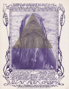 AOR-2.217 - Timothy Leary Grateful Dead Handbill - The Human Be-In - Golden Gate Park - Near Mint Minus