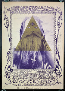 AUCTION - AOR-2.217 - Human Be-In 1967 Poster - Mouse Signed - Golden Gate Park - Excellent