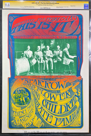 AUCTION - AOR-2.261 - Sparrow - 1967 Poster - Mouse Signed - Leamington Hotel - CGC Graded 9.6