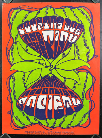 AUCTION - AOR-2.289 - Country Joe & Fish - 1967 Vanguard Record Promo Poster - Excellent