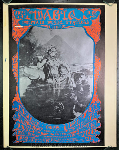 AOR-2.319- Doors Jefferson Airplane Uncut Poster - Magic Mountain - Mt. Tam Amphitheater - Condition - Very Good